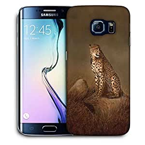Snoogg Leopard Printed Protective Phone Back Case Cover For Samsung Galaxy S6 EDGE / S IIIIII
