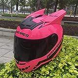 MGF Katze Ohr Helm Katze Ohr Band Winkel Helm Motorrad Helm Vollgesichts Helm,XXL