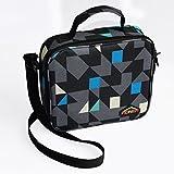 Bolsa para el almuerzo con aislamiento bolsa de viaje de alimentos bolsas con bolsillo de malla diamante Oxford Bento Box Cool bolsa de alimentos bolsa ideal para niños, Hombres y Mujeres