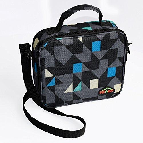 Aohea borsa porta pranzo contenitore termico per alimenti da viaggio borsa a secchiello con tasca a rete diamante oxford bento box cool bag school food bag ideale per bambini, uomini e donne