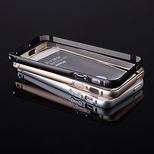 Ego ® de protection bumper ultra fine en aluminium pour iPhone en aluminium pour metal coque de protection téléphone portable, Aluminium, rose bonbon, für iPhone 4 4s argent