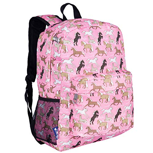 f6ef7fa254 Wildkin Children s Wildkin Backpack with Front Pocket - Pink Horses Children s  Backpack