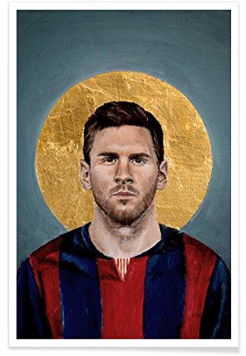 Juniqe® Fußball Lionel Messi Poster 20x30cm - Design