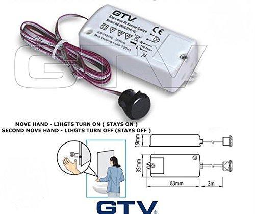 Beleuchtung Infrarot Sensor für auf/aus Schalt Küche der Schrank Beleuchtung, Move Hand Lichter einschalten
