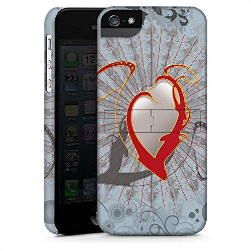 Apple iPhone X Silikon Hülle Case Schutzhülle Herz Heart Design Premium Case StandUp