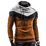 JiaMeng Heißer Männer Retro Langarm Hoodie Kapuzen Sweatshirt Tops Jacke Mantel Outwear Herren Tops (XL, Kaffee)