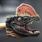 """BKFUN 9.8 """"Realista Dinosaurio Mano Títeres Guantes Traje Suave Vinilo Goma Animal Cabeza de Vaca de tiburón Dedo Títeres Teatros Muñeca Modelo Toy-1PC (Style 1)"""