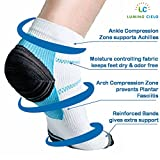 #8: Lumino Cielo Low Cut Graduated Compression Sports Socks (Arch Support for Athletes, prevents Plantar Fasciitis heel spurs, offers pain relief) (L/XL)