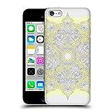 Head Case Designs Offizielle Micklyn Le Feuvre Doodle Gelb Und Grau Mandala 3 Ruckseite Hülle für Apple iPhone 5c