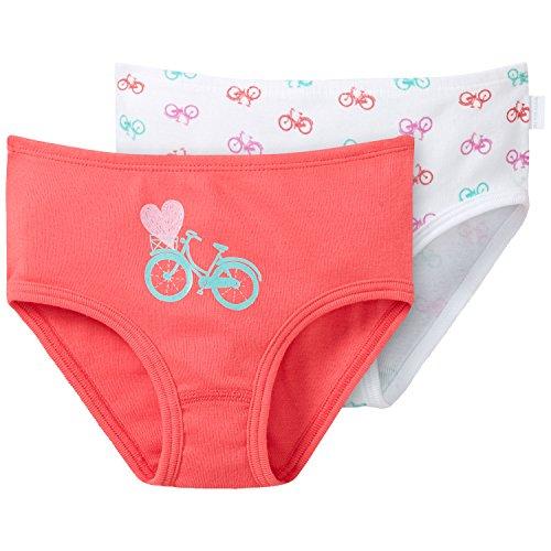 Schiesser Mädchen 2-Pack Hüftslips Unterhose, Mehrfarbig (Sortiert 4 901), 128 (erPack 2 -