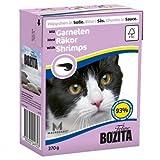 16 x Bozita Cat Tetra Recard Häppchen in Soße Garnelen 370g, Nassfutter, Katzenfutter