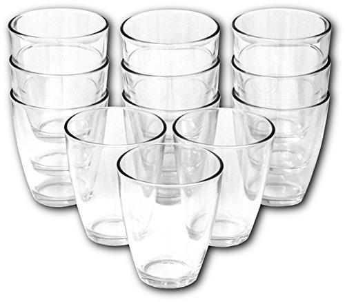 12x Wasserglas ( 400ml groß / platzsparend STAPELBAR ) Trinkgläser Saftglas Set