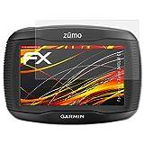 atFoliX Folie für Garmin Zumo 340LM CE Displayschutzfolie - 3 x FX-Antireflex-HD hochauflösende entspiegelnde Schutzfolie