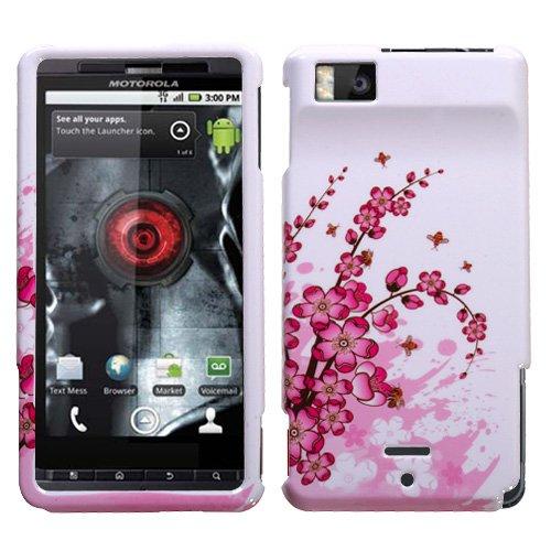 Hartschalenhülle für Motorola MB810 / MB870 Milestone Droid X, Droid X2, X Spring Flowers - Handy Motorola X Entsperrt