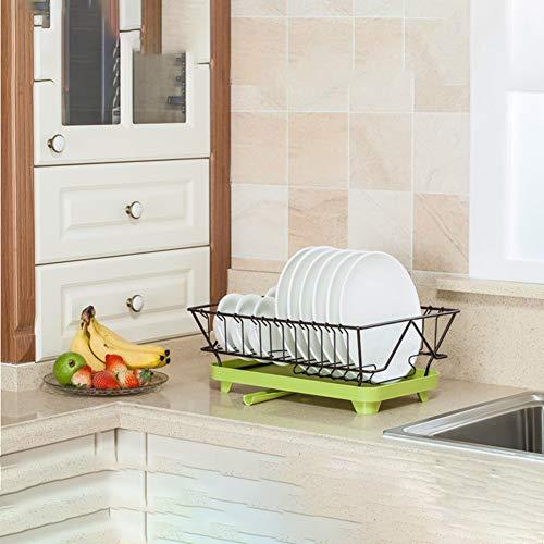 Rfsbqlcs Modern Kitchen Dish Drying Rack Abtropfbrett, Abtropfbrett mit Abtropfbrett und Besteck Cup Utensil Organizer Halter für Küchentheke (Rack Moderne Dish)