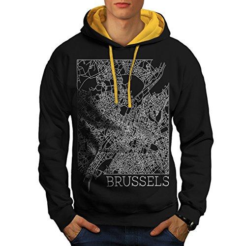 belgium-brussels-map-big-town-men-new-black-gold-hood-m-contrast-hoodie-wellcoda