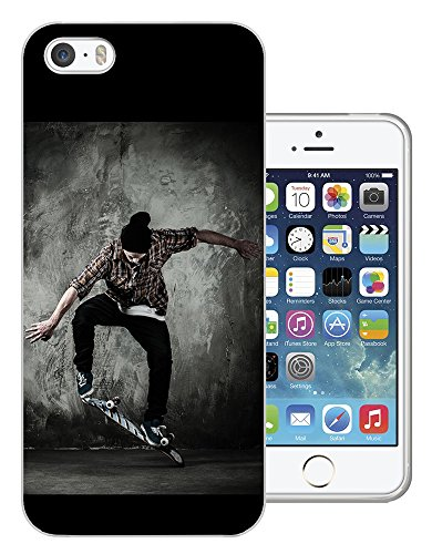 003397 - Skate boarding cool moves Design iphone 5C Fashion Trend Protecteur Coque Gel Rubber Silicone protection Case Coque