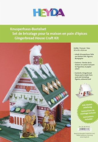 Heyda 204870701 Knusperhaus-Bastelset, aus Weißem Karton