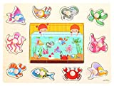 [Fish Party] Finger Schulungs Peg Puzzle Kreativ Educational Holzspielzeug