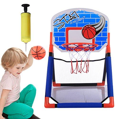 BANDRA Kinder Basketballkorb Über der Tür Basketball Backboard Ständer Hoop Set mit Luftpumpe fürs Zimmer Indoor Büro