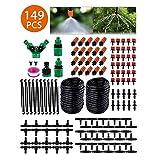 STLOVE Kit de Riego por Goteo 149 PCS Sistema de Riego de Jardín Enfriamiento Atomización...
