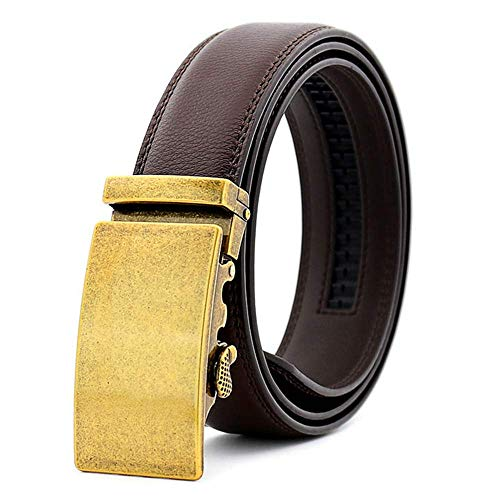 aoliaoyudonggha Male Automatic Buckle Leather Belt For Men Designers Brand Luxury Causal -