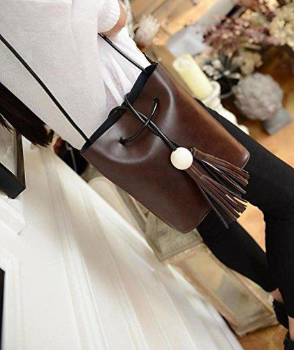 Baymate Donne Moda Shopping Bag Borse Riutilizzabili Marrone scuro
