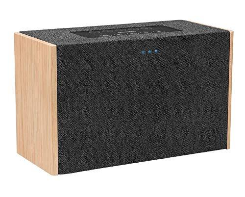 MEDION P61142 WLAN Lautsprecher mit Amazon Alexa, 2 x 10 W RMS, Fernfeld-Spracherkennung,