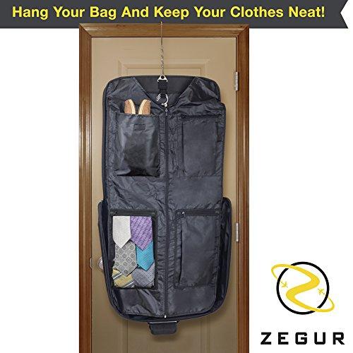 Zegur 3 Suit Suit Bag / Dress Bag for Travel or Business Trips - Black