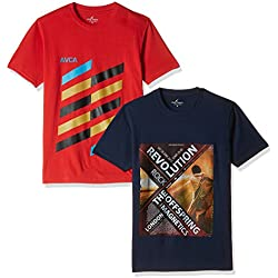 Cloth Theory Men's T-Shirt (Pack of 2) (ICSSCNP022_44_Multi-Color)