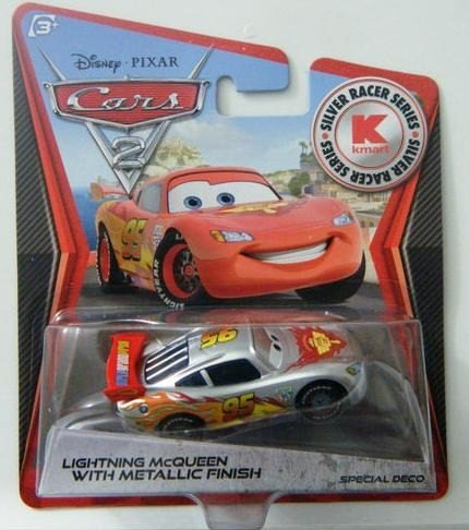 disney-pixar-cars-2-kmart-silver-racer-series-lightning-mcqueen-with-silver-metalic-finish-limited-e