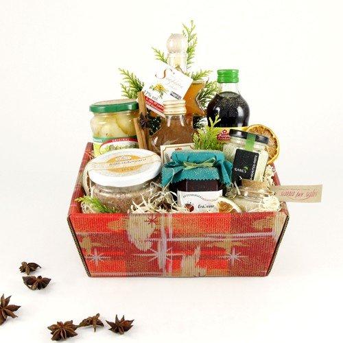 Geschenkkorb 'geistreicher Weihnachtsgenuss'