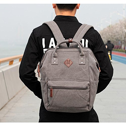 ... Outreo Zaino Vintage Borsa Uomo Borsello Laptop Backpack per Scuola  università Studenti Sacchetto Sport Bag Outdoor ... 4e3886f726f