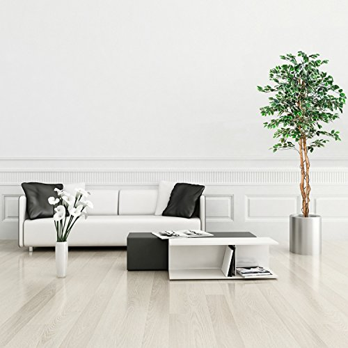 Großer grüner Ficus Baum, Echtholzstamm, Kunstbaum, Kunstpflanze, Dekobaum – Variante: 160 oder 190 cm - 3