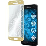 1 x Samsung Galaxy S7 Glas-Folie klar full screen gold PhoneNatic Panzerglas für Galaxy S7
