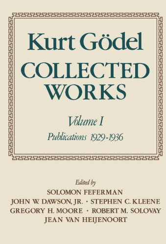 Collected Works: Volume I: Publications 1929-1936: Publications 1929-1936 Vol 1 (Collected Works (Oxford))