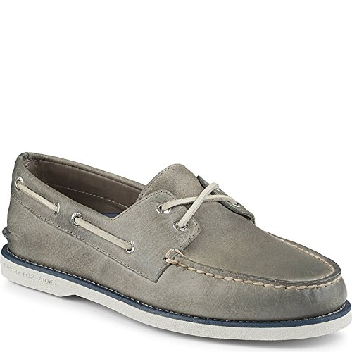 Sperry Gold Cup (Sperry Men's Gold Cup Grey Leather Welt Boat Shoe - 8.5 D(M) US)
