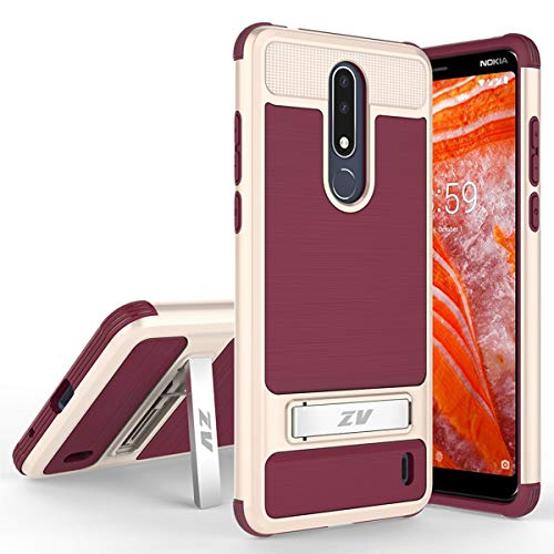 Phonelicious Cricket Nokia 3 1 Plus Case with Stand Heavy Duty Rugged Slim  Durable Hybrid Dual Layer Shockproof Phone Cover Compatible with Nokia 3 1+