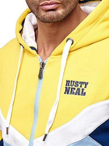 Rusty Neal Kapuzenpullover Sweatshirt Zipper Jacke Pullover Hoodie RN-19046 NEU Gelb