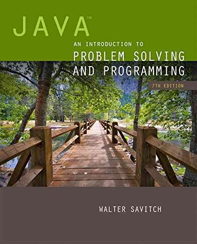 [(Java : An Introduction to Problem Solving and Programming)] [By (author) Walter J. Savitch] published on (February, 2014)