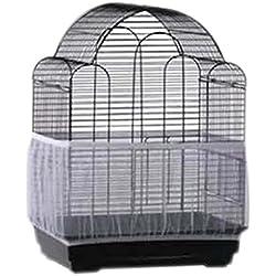 Hinmay Funda para jaula de pájaros de lujo, de nailon suave y fácil de limpiar, para mascotas, jaula de pájaros, cubierta para jaula de pájaros, falda, protector para atrapar semillas