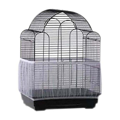 Hinmay Luxus Vogelkäfig, weich Einfache Reinigung Nylon luftiger Stoff Pet Bird Cage Supplies Mesh Cover Vogelkäfig Schutzhülle Rock Samen Catcher Guard -