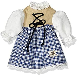 Sturm 8835-0 - Vestido Tradicional bávaro para muñecas, Color Azul