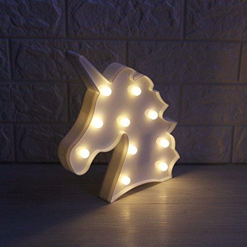 liqy Einhorn Form Animal Licht Tisch Lampe 3D Festzelt Einhorn Schild Festzelt Buchstabe Nachtlicht Home Dekoration (Home Dekorationen)