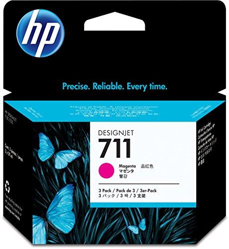 HP 711 - CZ135A - print cartridge - 3 x magenta - for DesignJet T120 ePrinter, T520 ePrinter