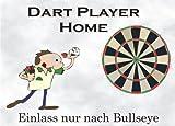 INDIGOS UG - Türschild FunSchild - SE17 DIN A4 laminiert für Dart Player Fans Schild - für Käfig, Zwinger, Haustier, Tür, Tier, Aquarium