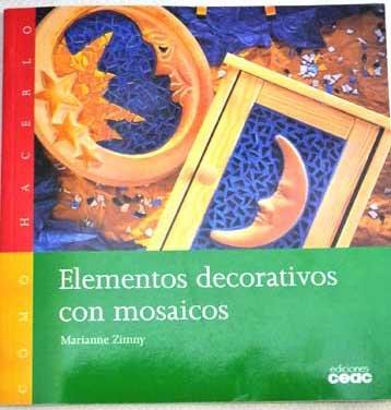 Elementos decorativos con mosaicos - como hacerlo - por Marianne Zimny