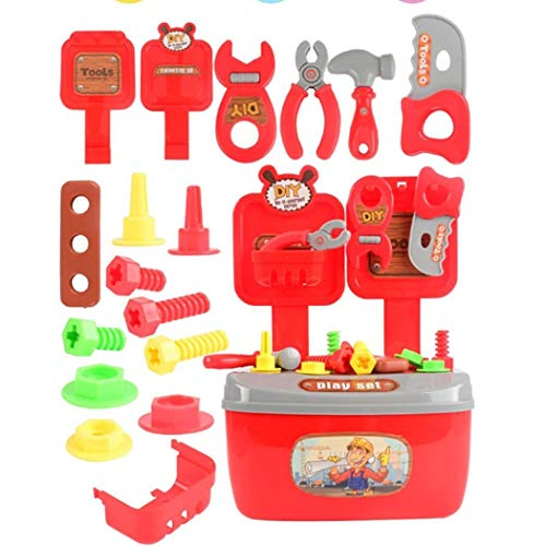Sisaki Kindersimulations-Reparatur-Werkzeug-Spielzeug-Installationssatz Kinder DIY 22pcs Zerlegungs-Reparatur-Installationssätze Spielwerkzeug