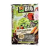 COMPO BIO Universal-Erde torffrei, hochwertige, torffrei Blumenerde mit ganzjähirger Anwendbarkeit, mit 100% natürlichen Inhaltsstoffen, 7,5 L