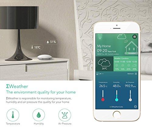 Sigma Casa Smart Weather Sensor – aktuelle Wetter-Daten Temperatur, Luftfeuchte und Luftdruck, Übermittlung durch Smart-Home Haus-Automatisierung auf Smartphone oder Tablet via Bluetooth - 6